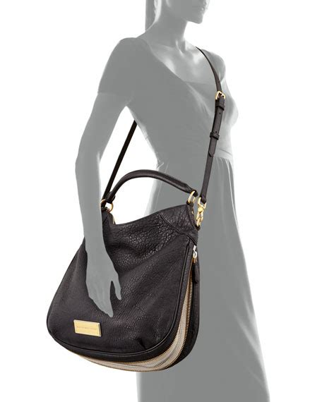 Marc By Marc Washed Utility Satchel by Marc By Marc Washed Up Billy Hobo Bag Black Multi