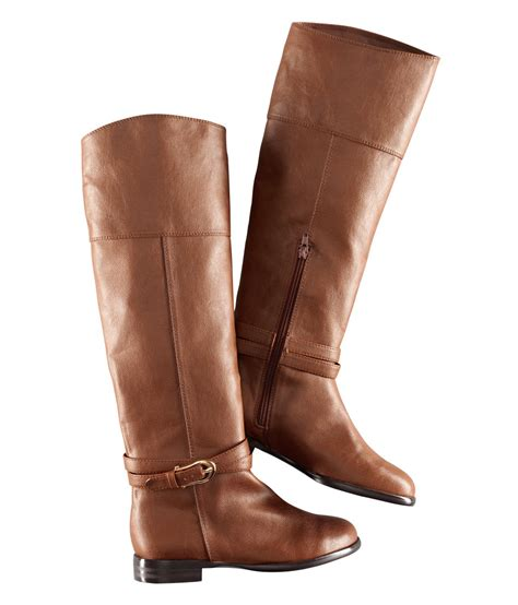 hm shoes h m boots in brown cognac lyst
