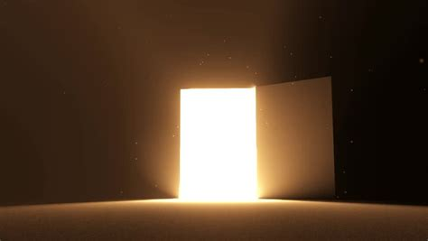 Door Open To Bright Light Warm Yellow New Opportunity Opportunity Lights