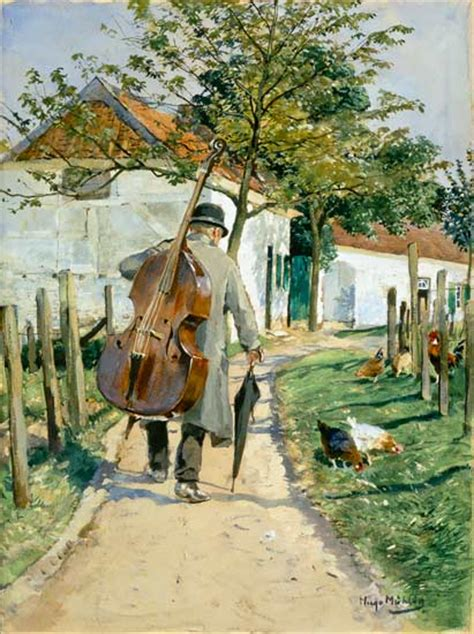 musician on the way home hugo m 252 hlig as print or