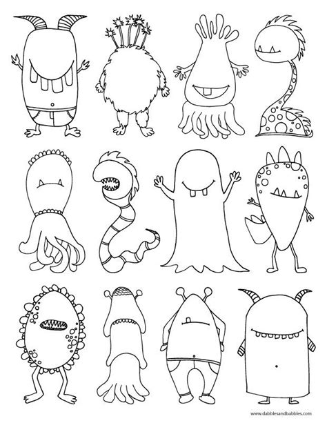 moster template coloring pages