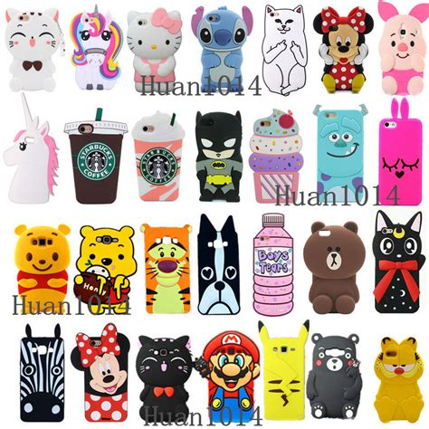 Samsung Galaxy J7 3d Premium Soft Casing Cover Bumper Sarung Lucu 3d Animals Soft Silicone Cover Back For