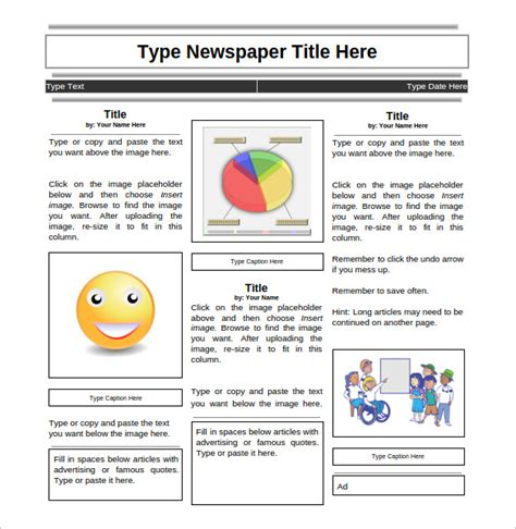 student newspaper template newspaper template word