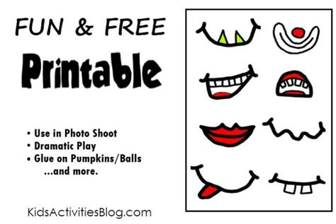 Printable Silly Faces