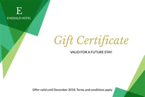 gift certificates templates exles lucidpress
