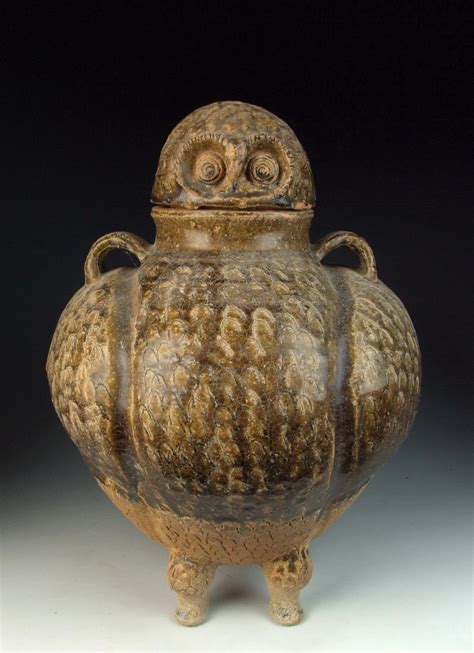 Owl Vase by Antique Yue Ware Porcelain Owl Shaped Vase Ebay