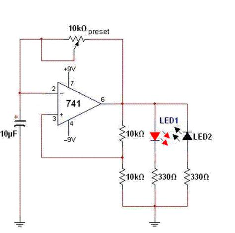 linear integrated circuits mini projects using ic 741 new lab project op ic 741 testing circuit using led