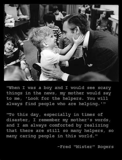 Finding God in a Tragedy | Mr rogers quote, Inspirational