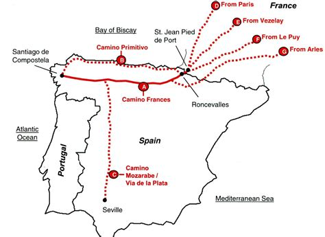 camino santiago map planning part 2 camino routes the camino provides