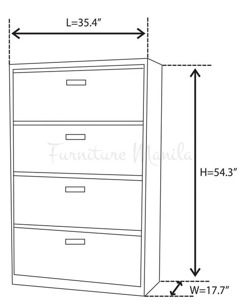 File Cabinet Sizes 2018 Lateral Kitchen Cabinets Drawer
