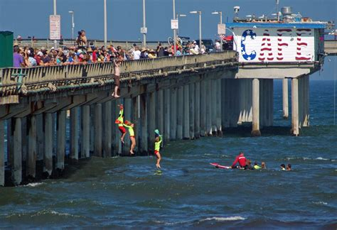 houses on the pier in san diego san diego community news junior lifeguards jump