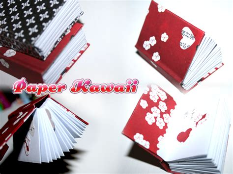 Book On Origami - mini origami books tutorial paper kawaii