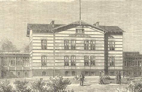 Rahnem At 1208 das augusta hospital in berlin holzstich deutsches reich
