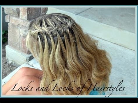 youtube tutorial waterfall braid how to waterfall braid hairstyle tutorial youtube