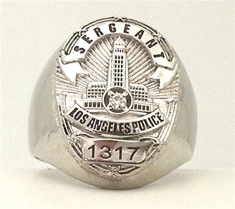 Jewelry Factory   LAPD Los Angeles Police Department Ring