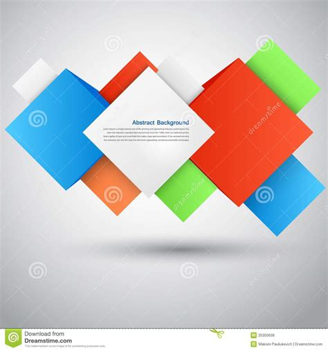 free graphic design stock photo file page 10 vector abstract background square and 3d object royalty