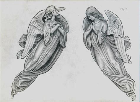 эскизы тату ангел