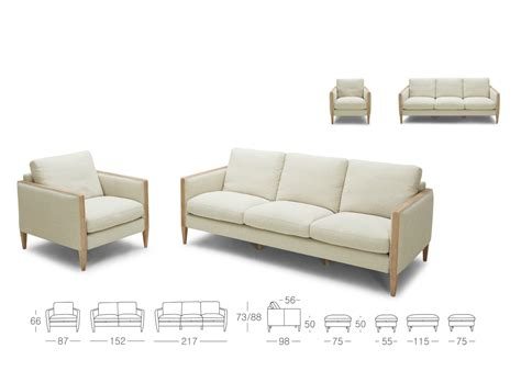 wood and fabric sofa sofa in linen mix fabric and birch wood not just brown