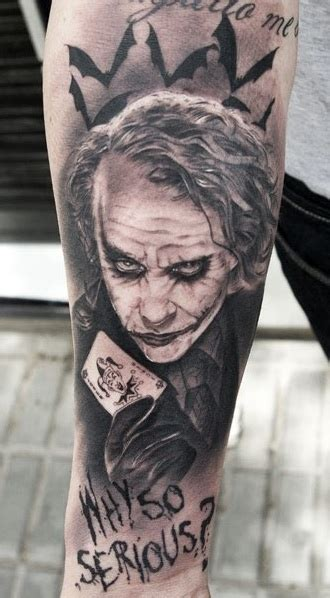 heath ledger joker tattoo designs 55 cool joker tattoos