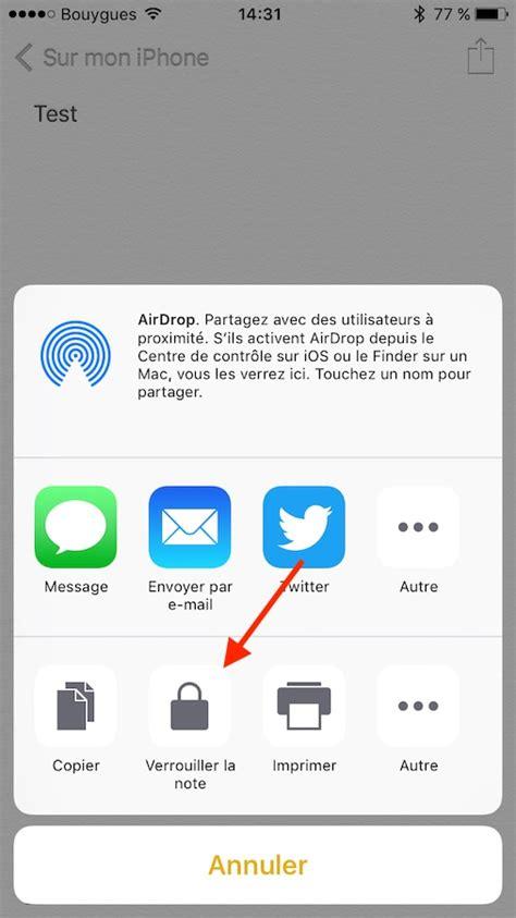 icone cadenas iphone 6 comment prot 233 ger les notes avec un mot de passe ou touch