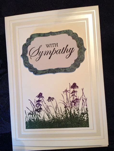 Handmade Sympathy Cards - handmade card sympathy handmade sympathy cards
