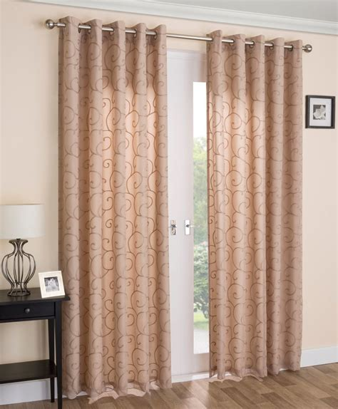 voile drapes curtains venice lined voile curtains in latte free uk delivery
