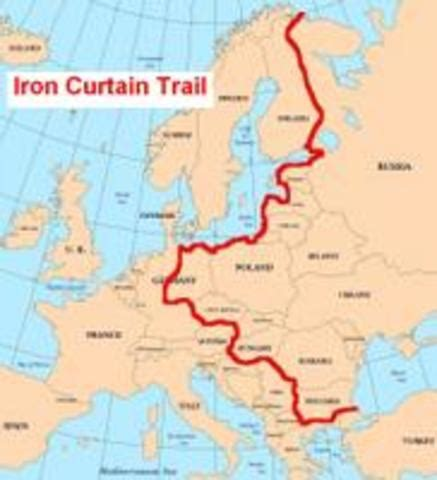 what is iron curtain mean ww2 cold war timeline timetoast timelines