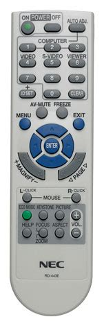 Remote Proyektor Nec Nec Projector Np64 Np63 Np54 Np43 Remote Nec