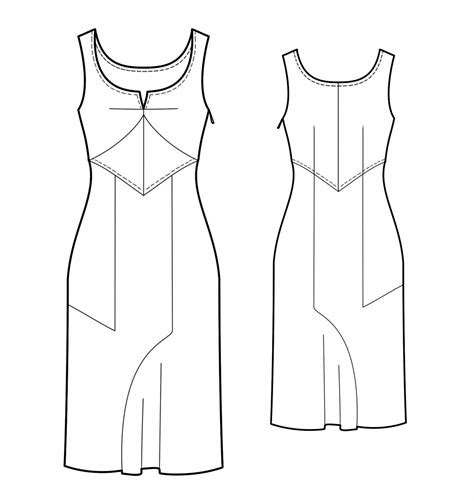 dress pattern draw dress sewing pattern 5678 made to measure sewing