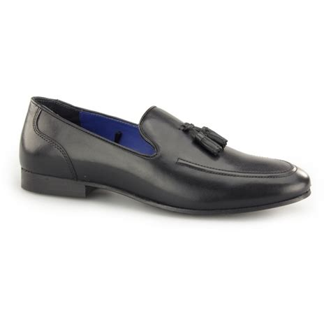 mens black loafers uk thill mens leather slip on tassel loafers
