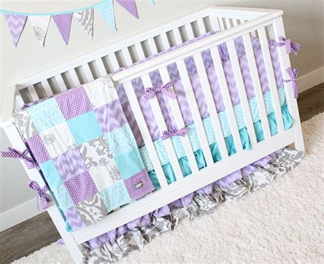 purple and teal nursery bedding girl crib bedding purple teal and gray nursery bedding