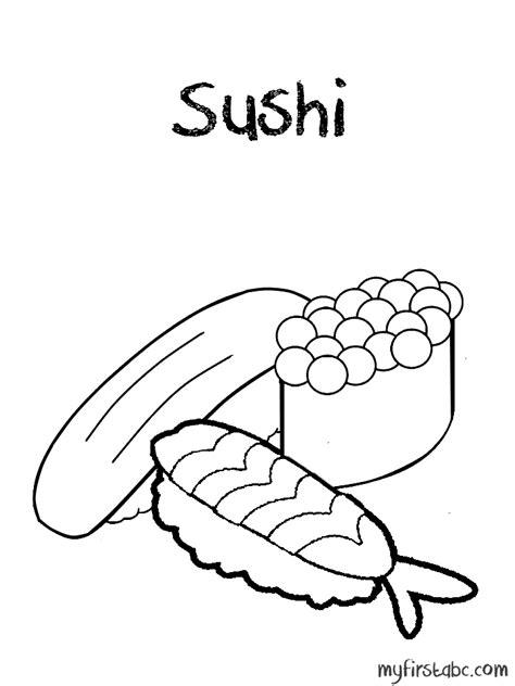 kawaii sushi coloring pages kawaii sushi colouring pages