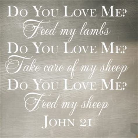 john    love  feed  sheep wall decal  great impression