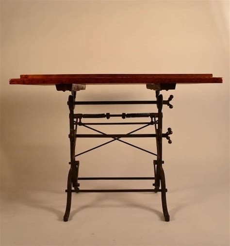 Drafting Table For Sale American Drafting Table With Cast Iron Base For Sale At 1stdibs