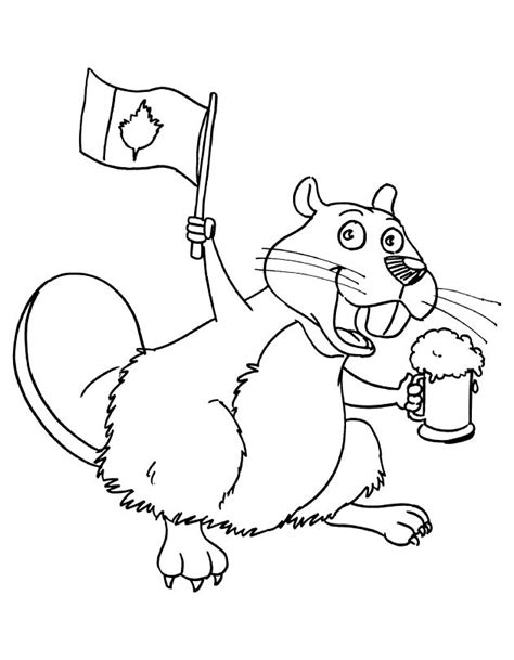 beaver template beaver coloring pages
