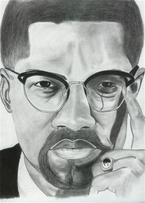 Drawing X On by Malcolm X By Billy Welch Artwanted