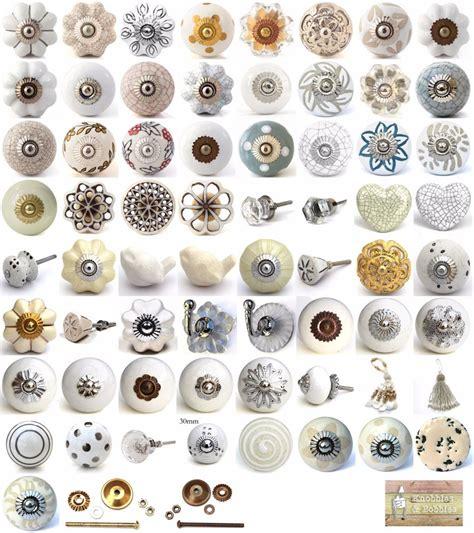 white cream ceramic knobs drawer pulls cupboard door knobs