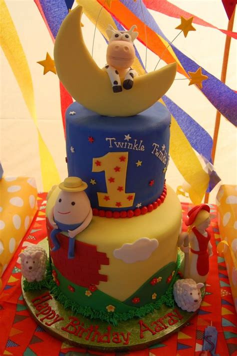 Nursery Rhymes Birthday Theme On Nursery Rhyme Theme Birthday Cake Birthday Celebration Birthday Cakes