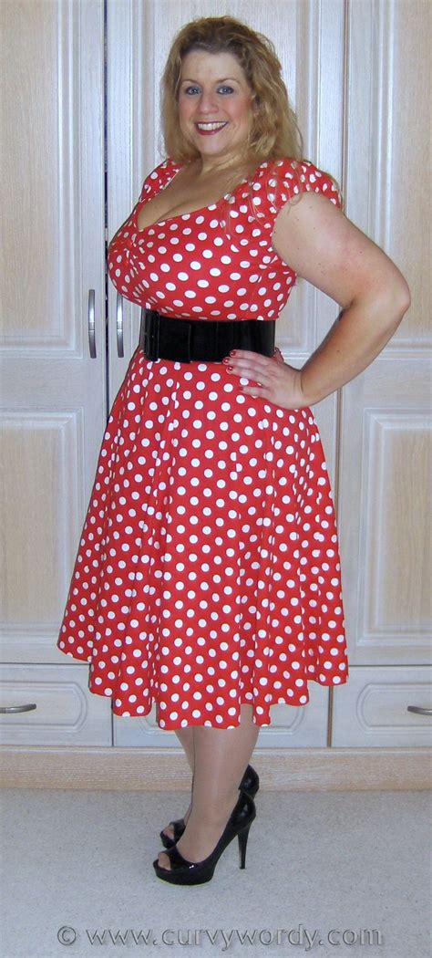 Caroline Polka Dress new post i ve reviewed the collectif dolores doll polka dress http www curvywordy