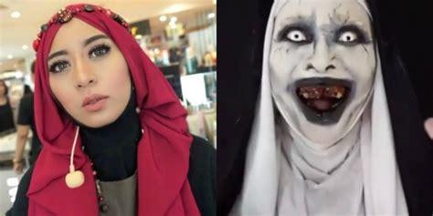 tutorial makeup valak makeup hantu valak saubhaya makeup