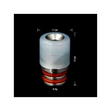 Wided Stainless Drip Tip 510 Model white black jade stainless steel wide bore 510 drip tip