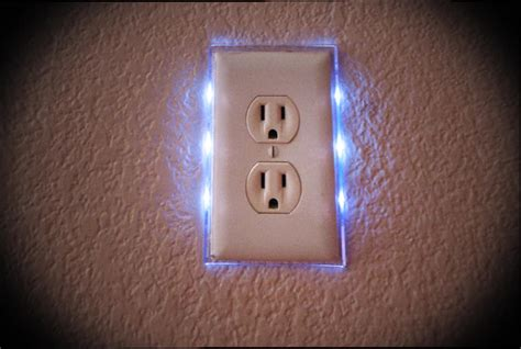 receptacle light cover led nightlight lighted switch plate single outlet ebay