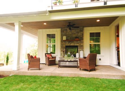 Sided Gas Fireplace Indoor Outdoor by Baltimore Modern Sided Fireplace Patio Traditional