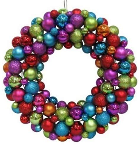 modern wreaths shatterproof ornament wreath multi color modern