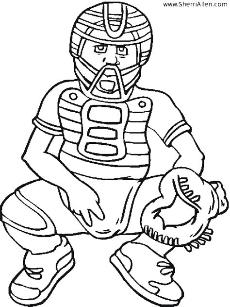 baseball color page sports coloring pages color plate baseball catcher coloring pages catcher coloring pages