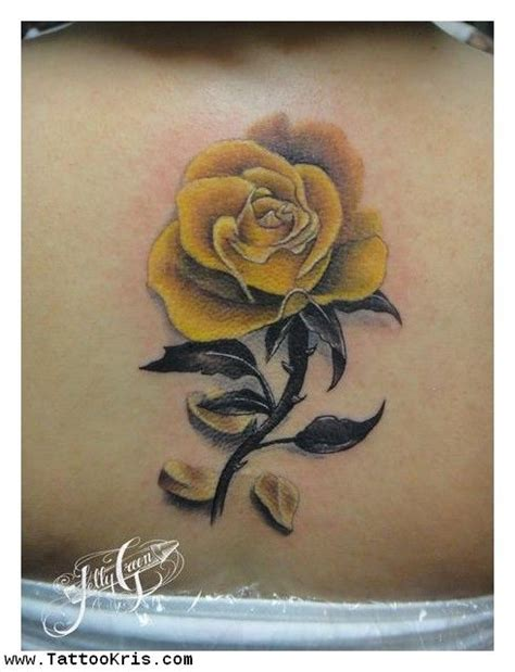 green rose tattoos 18 best yellow images on yellow