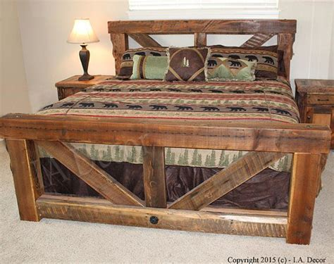 barn wood bed frame best 25 rustic bed frames ideas on diy bed