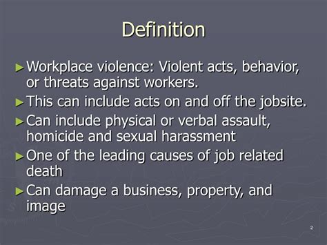 ppt workplace violence in the construction industry