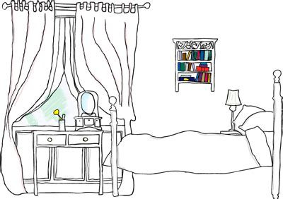 how to draw a bedroom how to draw a bedroom