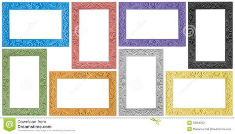 cornici eleganti gruppo antico elegante di cornici colorate fotografia